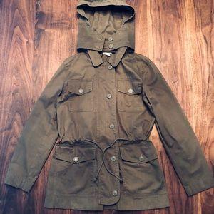 J. Crew cinch waist field jacket, like new, XS